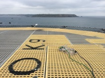 photo5_Pair of accelerometers on helideck looking towards Guernsey