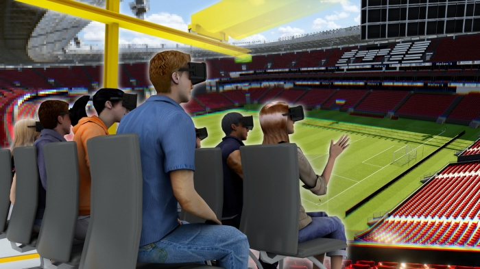 Stadium With Users